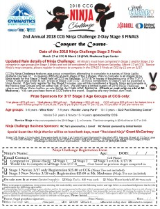 2018 Stage 3 Ninja Registration form