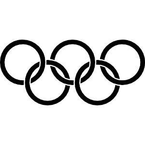 Black olympic rings
