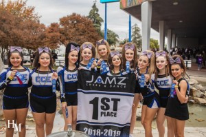 CCE Cheer Jamz comp Team 1st place