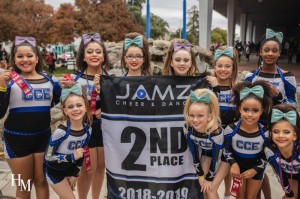 CCE Cheer Jamz comp Team 2nd place