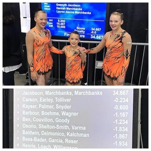 CCG Acro Trio in First Place at the USA National Championships