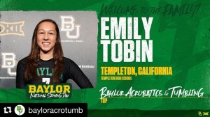 Emily Tobin National Signing Day Baylor