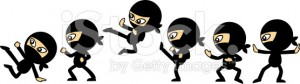 Ninja group clipart