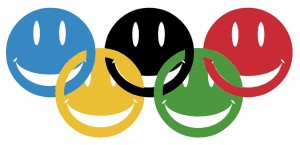 Olympic rings happy faces