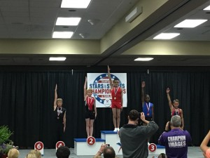 Stars and Stripes Justin wins 4th place in tumbling at Nationals