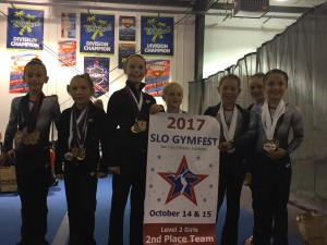 2017 SLO Gym Fest Level 2 Girls 2nd place TEAM