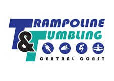 Central Coast Gymnastics Trampoline and Tumbling Logo, featuring little bubbles of figures in various gymnastics positions