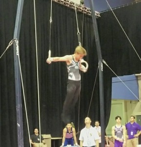 Peter at Nationals on the rings