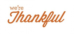 We are thankful logo