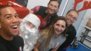 CCG staff and Santa Claus Winter Fest 2016
