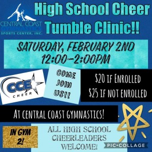 CCE cheer clinic flyer