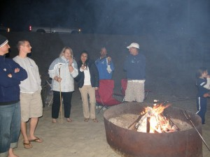 beach bonfire Port San Luis Beach