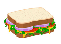 vegetable sandwich on sliced bread clipart