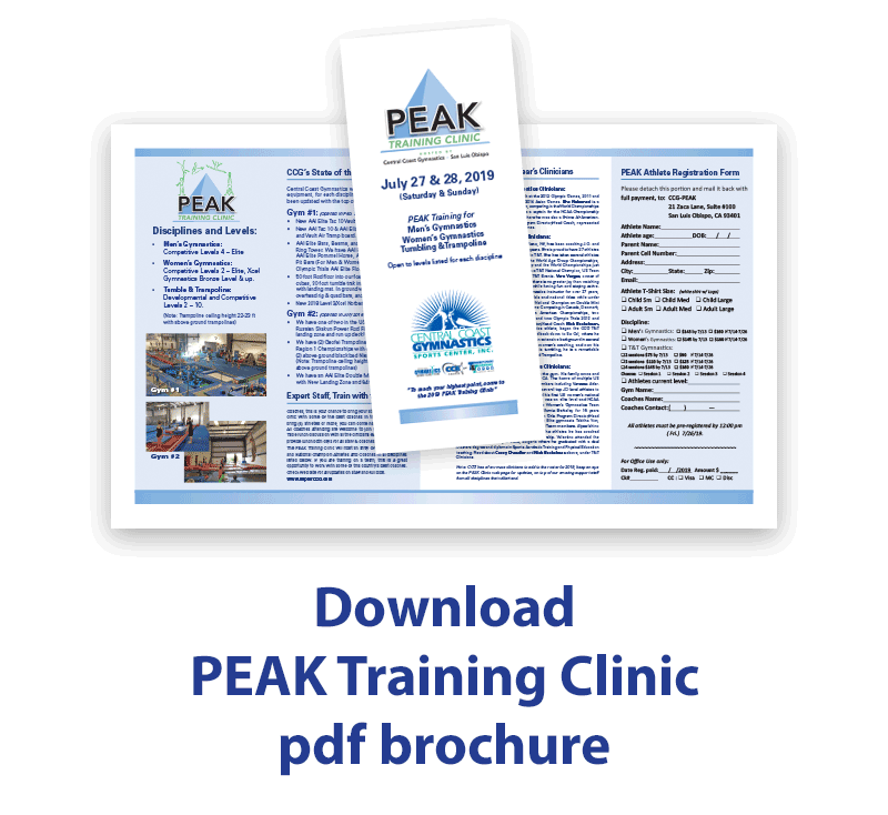 Peak clinic brochure